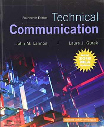 9780134678825-0134678826-Technical Communication, MLA Update (14th Edition)