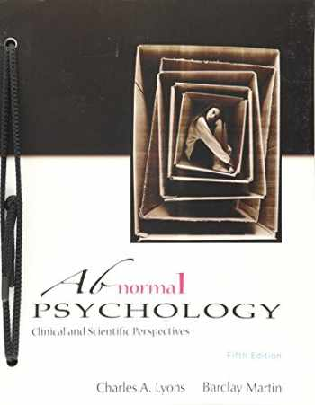 9781618826343-1618826344-Abnormal Psychology Clinical and Scientific Perspectives 5th Ed
