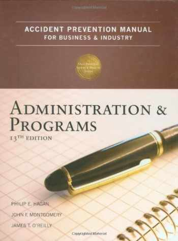 9780879122805-0879122803-Accident Prevention Manual for Business & Industry: Administration and Programs, 13th Edition