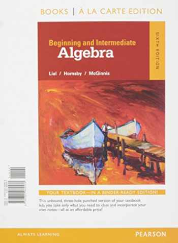 9780134197340-0134197348-Beginning and Intermediate Algebra a la Carte -- Access Card Package (6th Edition)
