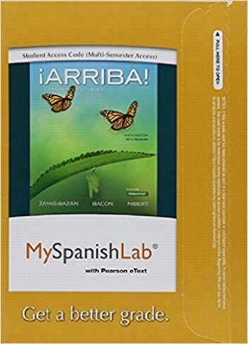 9780134071459-013407145X-MySpanishLab with Pearson eText -- Access Card -- for ¡Arriba!: comunicación y cultura, 2015 Release (Multi-semester) (6th Edition)