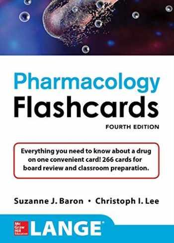 9781259837241-1259837246-Lange Pharmacology Flashcards, Fourth Edition