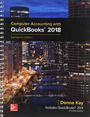 9781259538490-1259538494-Computer Accounting With Quickbooks 2018