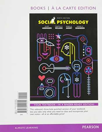 9780134012391-0134012399-Social Psychology -- Books a la Carte (9th Edition)