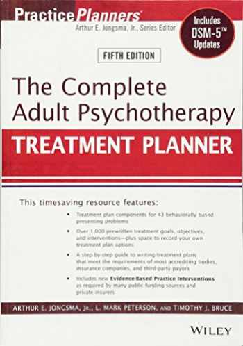 9781118067864-111806786X-The Complete Adult Psychotherapy Treatment Planner: Includes DSM-5 Updates
