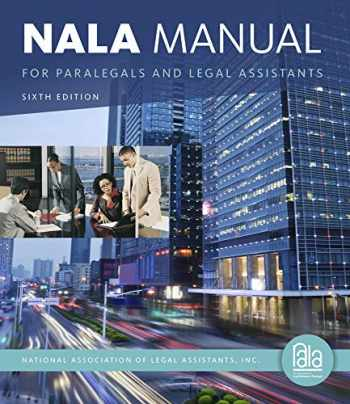 9781133591863-1133591868-NALA Manual for Paralegals and Legal Assistants