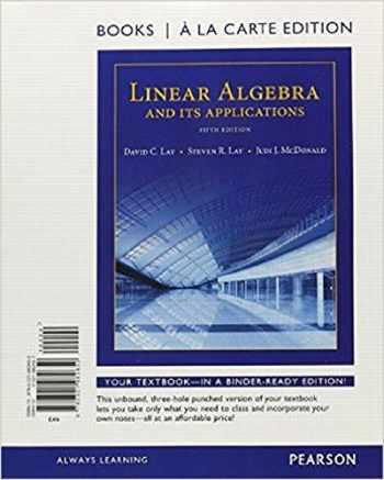 9780321982650-0321982657-Linear Algebra and Its Applications, Books a la Carte Edition (5th Edition)