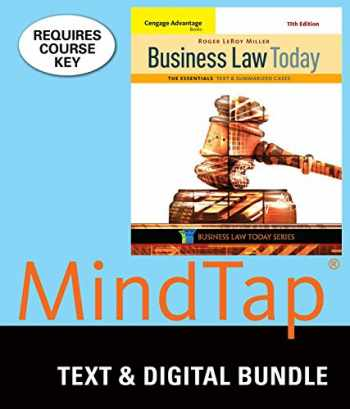 9781337061858-1337061859-Bundle: Cengage Advantage Books: Business Law Today, The Essentials: Text and Summarized Cases, Loose-Leaf Version, 11th + MindTap Business Law, 1 term (6 months) Printed Access Card