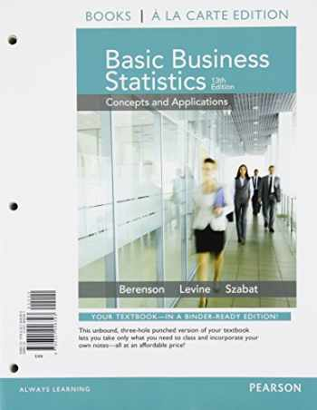 9780133873641-0133873641-Basic Business Statistics Student Value Edition Plus NEW MyStatLab with Pearson eText -- Access Card Package (13th Edition)