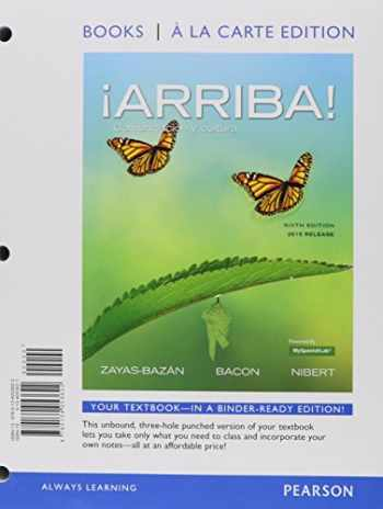 9780134225845-0134225848-¡Arriba!: comunicación y cultura, 2015 Release, Books a la Carte Edition plus MySpanishLab -- Access Card Package (6th Edition)