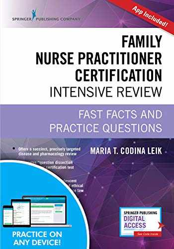 9780826134295-0826134297-Family Nurse Practitioner Certification Intensive Review, Third Edition: Fast Facts and Practice Questions