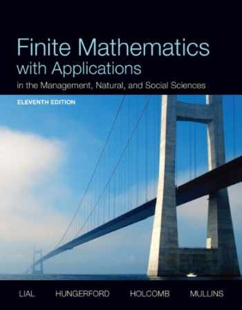 9780321931061-0321931068-Finite Mathematics with Applications In the Management, Natural, and Social Sciences (11th Edition)