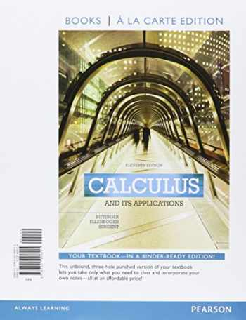 9780321999115-0321999118-Calculus and Its Applications, Books a la Carte Edition (11th Edition)