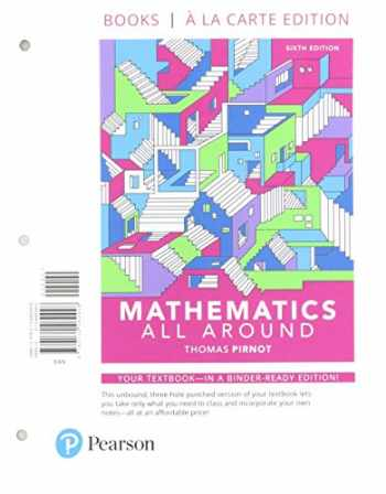 9780134800189-0134800184-Mathematics All Around, Loose-Leaf Version Plus MyMathLab -- Access Card Package (6th Edition)