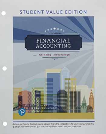 9780134833170-0134833171-Financial Accounting, Student Value Edition Plus MyLab Accounting with Pearson eText -- Access Card Package (5th Edition)