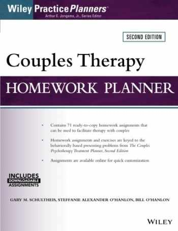 9781119230687-1119230683-Couples Therapy Homework Planner, 2nd Edition (Wiley Practice Planners)