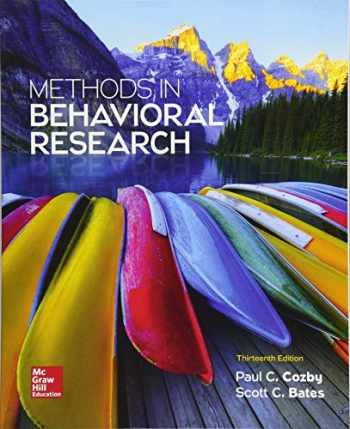 9781259676987-1259676986-Methods in Behavioral Research