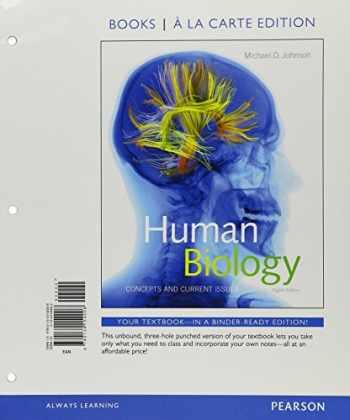 9780134326689-0134326687-Human Biology: Concepts and Current Issues, Books a la Carte Plus MasteringBiology with eText -- Access Card Package (8th Edition)