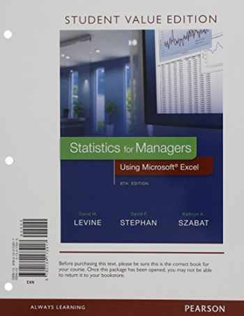 9780134173917-0134173910-Statistics for Managers Using Microsoft Excel, Student Value Edition (8th Edition)