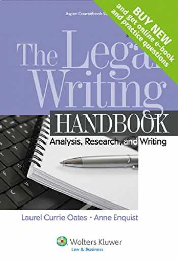 9781454841555-1454841559-The Legal Writing Handbook: Analysis Research and Writing [Connected Casebook] (Aspen Coursebook)