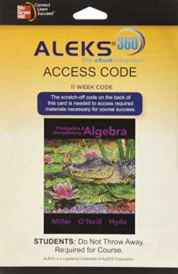9780078094101-0078094100-ALEKS 360 Access Card (11 weeks) for Prealgebra & Introductory Algebra