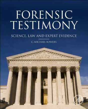 9780123970053-0123970059-Forensic Testimony: Science, Law and Expert Evidence