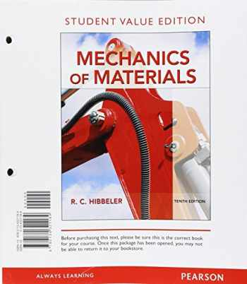 9780134321189-0134321189-Mechanics of Materials, Student Value Edition (10th Edition)