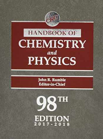9781498784542-1498784542-CRC Handbook of Chemistry and Physics, 98th Edition