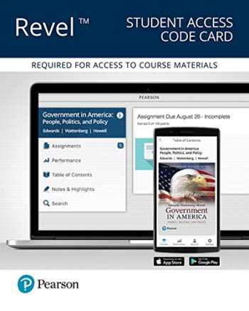 9780134628936-0134628934-REVEL for Government in America: People, Politics, and Policy - 2016 Presidential Election -- Access Card (17th Edition)