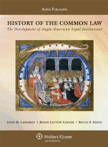 9780735562905-0735562903-History of the Common Law: The Development of Anglo-American Legal Institutions (Aspen Casebook)