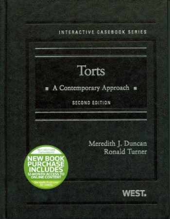 9780314280237-0314280235-Torts: A Contemporary Approach, 2d (Interactive Casebook Series)