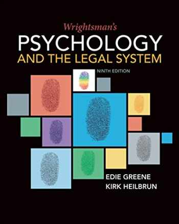9781337570879-1337570877-Wrightsman's Psychology and the Legal System