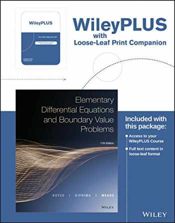 9781119336617-1119336619-Elementary Differential Equations and Boundary Value Problems, 11e WileyPLUS Registration Card + Loose-leaf Print Companion
