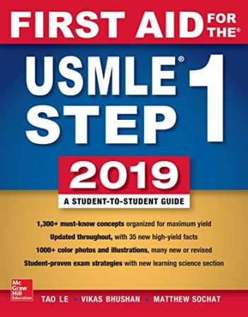9781260143676-1260143678-First Aid for the USMLE Step 1 2019,  Twenty-ninth edition
