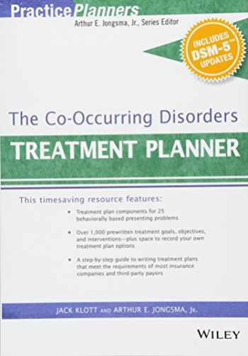 9781119073192-1119073197-The Co-Occurring Disorders Treatment Planner, with DSM-5 Updates (PracticePlanners)