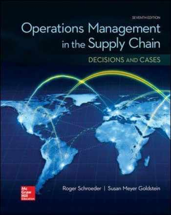 9780077835439-0077835433-OPERATIONS MANAGEMENT IN THE SUPPLY CHAIN: DECISIONS & CASES (Mcgraw-hill Series Operations and Decision Sciences)