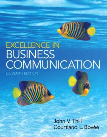 9780133544176-0133544176-Excellence in Business Communication (11th Edition)