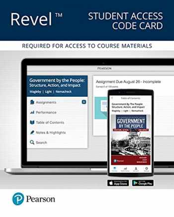 9780134628974-0134628977-Revel for Government By the People, 2016 Presidential Election Edition -- Access Card (26th Edition)