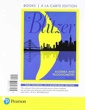 9780134765495-0134765494-Algebra and Trigonometry, Books A La Carte Edition Plus MyMathLab with eText  -- Access Card Package (6th Edition)