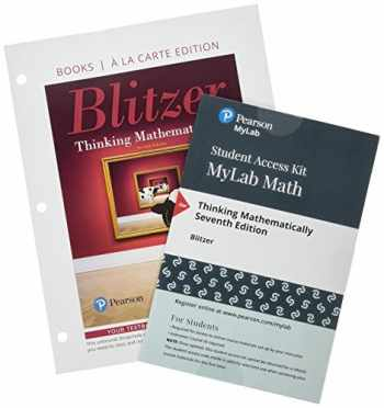 9780135167458-0135167450-Thinking Mathematically, Loose-Leaf Edition Plus MyLab Math with Pearson eText -- 24 Month Access Card Package (7th Edition)
