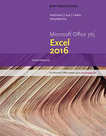 9781337251471-133725147X-New Perspectives Microsoft Office 365 & Excel 2016: Comprehensive, Loose-leaf Version
