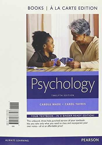 9780134377797-0134377796-Psychology -- Books a la Carte (12th Edition)