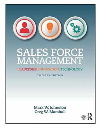 9781138951723-1138951722-Sales Force Management: Leadership, Innovation, Technology - 12th edition