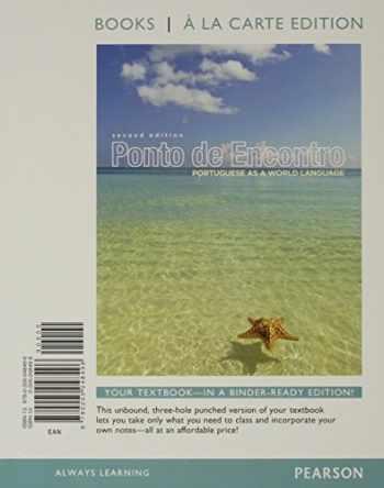 9780205998494-0205998496-Ponto de Encontro: Portuguese as a World Language, Books a la Carte Plus MyPortugueseLab (multi semester access) with eText -- Access Card Package (2nd Edition)