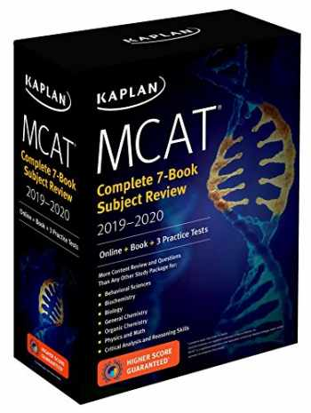 MCAT Complete 7-Book Subject Review 2019-2020: Online + Book (Kaplan Test Prep)