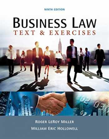 9781337624657-1337624659-Business Law: Text & Exercises