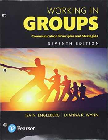 9780134415529-0134415523-Working in Groups: Communication Principles and Strategies, Books a la Carte