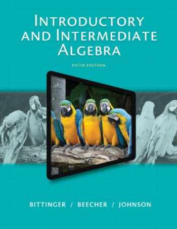 9780321917898-0321917898-Introductory and Intermediate Algebra (5th Edition)