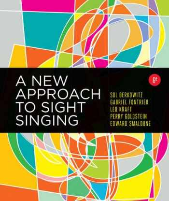 9780393284911-0393284913-A New Approach to Sight Singing (Sixth Edition)