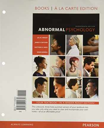 9780134225784-0134225783-Abnormal Psychology -- Books a la Carte (17th Edition)